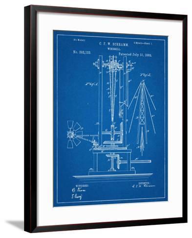 Windmill Patent--Framed Art Print