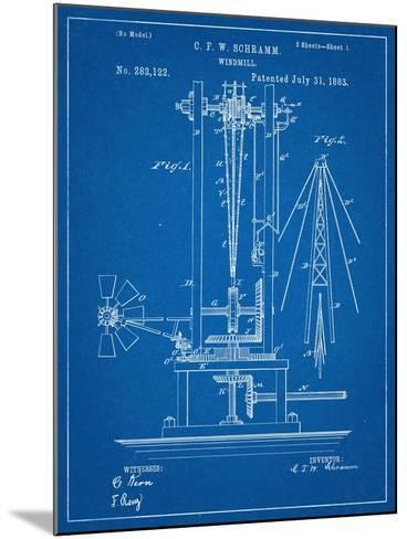 Windmill Patent--Mounted Art Print