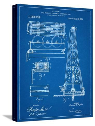 Drilling Rig Patent--Stretched Canvas Print