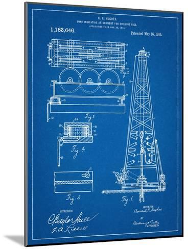 Drilling Rig Patent--Mounted Art Print