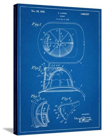 Firemen Helmet Patent--Stretched Canvas Print