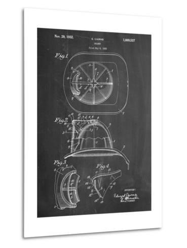 Firemen Helmet Patent--Metal Print