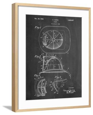 Firemen Helmet Patent--Framed Art Print