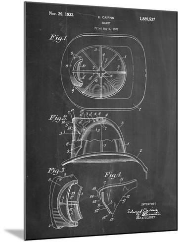 Firemen Helmet Patent--Mounted Art Print