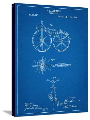 First Bicycle Patent--Stretched Canvas Print