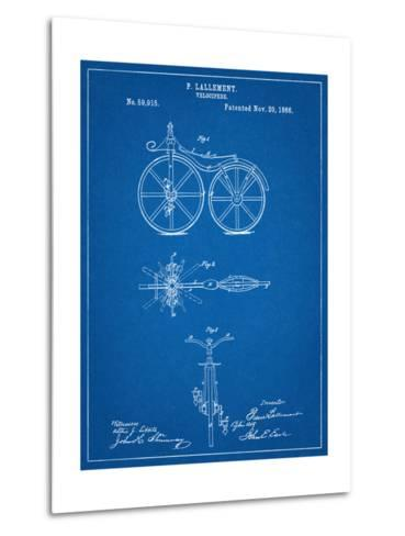 First Bicycle Patent--Metal Print