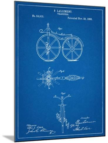 First Bicycle Patent--Mounted Art Print