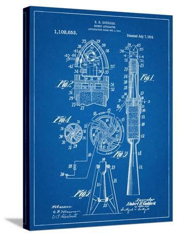 Rocket Patent--Stretched Canvas Print