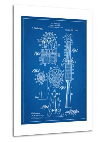 Rocket Patent--Metal Print