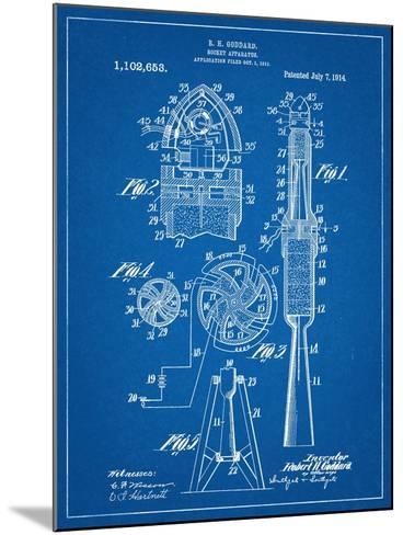 Rocket Patent--Mounted Art Print