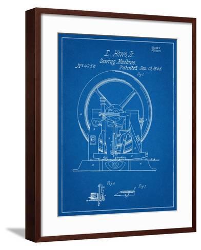 Sewing Machine Patent 1846--Framed Art Print