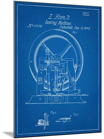 Sewing Machine Patent 1846--Mounted Art Print