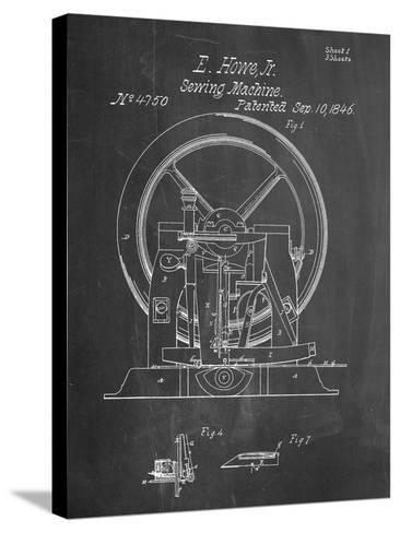 Sewing Machine Patent 1846--Stretched Canvas Print