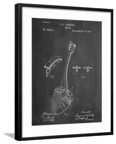 Shovel Patent--Framed Art Print