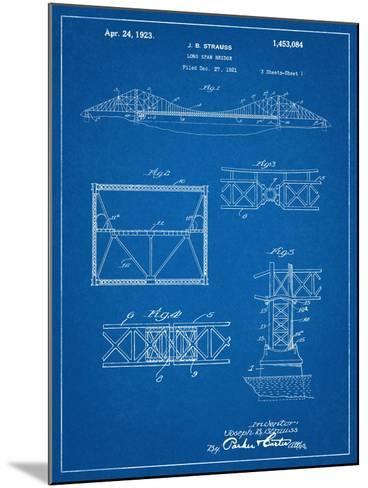 Golden Gate Bridge Patent, Long Span Bridge--Mounted Art Print