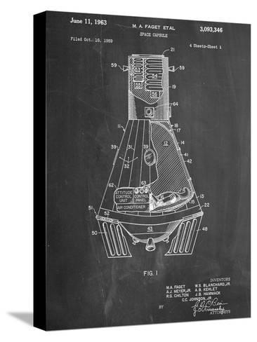 Space Capsule, Space Shuttle Patent--Stretched Canvas Print