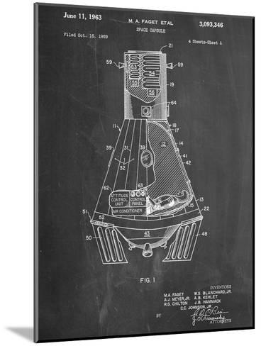Space Capsule, Space Shuttle Patent--Mounted Art Print