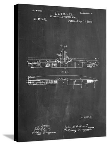 Submarine Vessel Patent--Stretched Canvas Print
