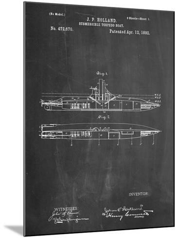 Submarine Vessel Patent--Mounted Art Print