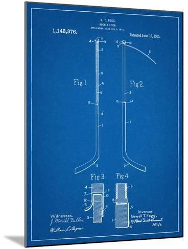 Hockey Stick Patent--Mounted Art Print