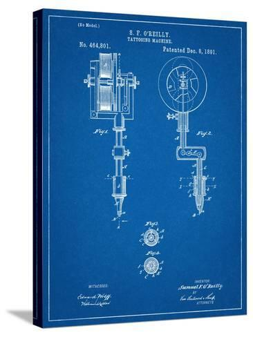 Tattoing Machine Patent 1891--Stretched Canvas Print