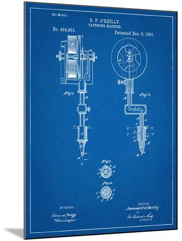 Tattoing Machine Patent 1891--Mounted Art Print