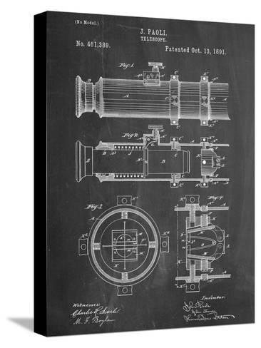 Telescope Vintage Patent 1891--Stretched Canvas Print