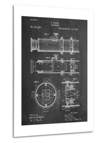 Telescope Vintage Patent 1891--Metal Print