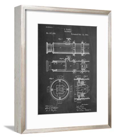 Telescope Vintage Patent 1891--Framed Art Print