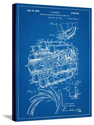 Aircraft Rocket Patent--Stretched Canvas Print