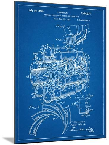 Aircraft Rocket Patent--Mounted Art Print
