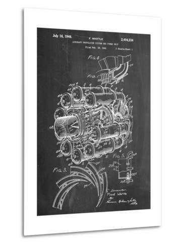 Aircraft Rocket Patent--Metal Print