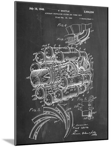 Aircraft Rocket Patent--Mounted Art Print