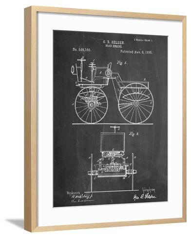 Antique Automobile Patent 1895--Framed Art Print