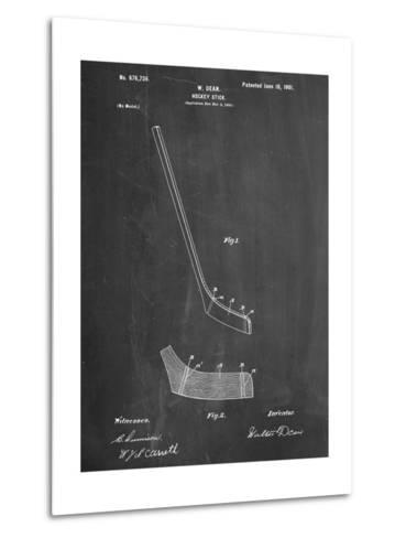 Hockey Stick Patent--Metal Print