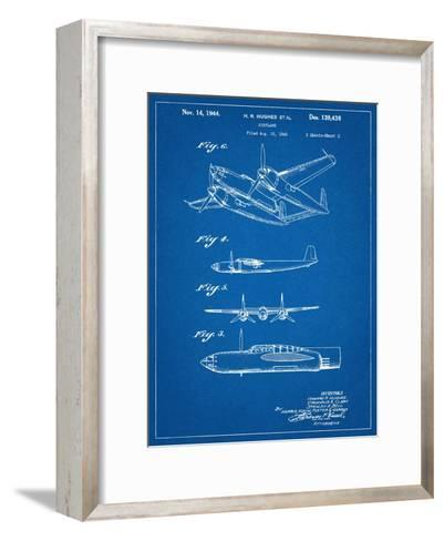 Howard Hughes Airplane Patent--Framed Art Print