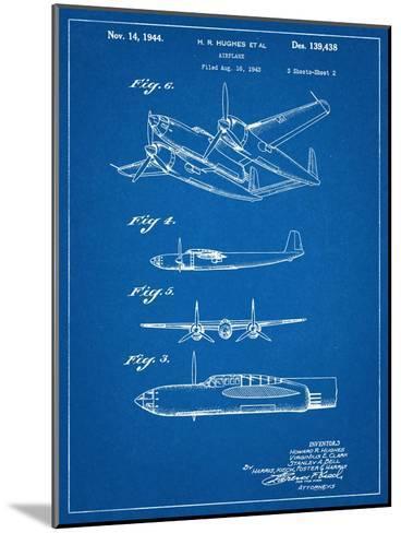 Howard Hughes Airplane Patent--Mounted Art Print