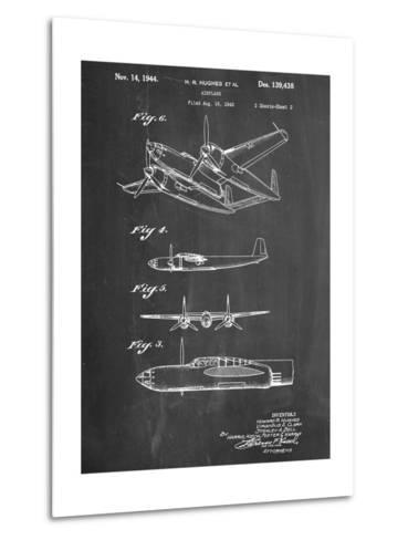 Howard Hughes Airplane Patent--Metal Print