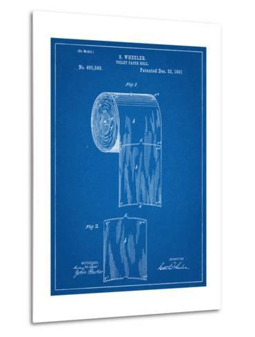 Toilet Paper Patent--Metal Print