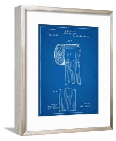 Toilet Paper Patent--Framed Art Print