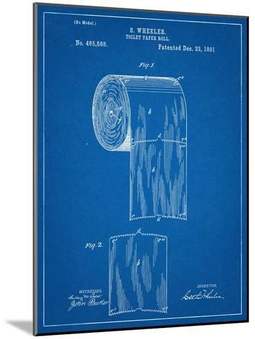 Toilet Paper Patent--Mounted Art Print