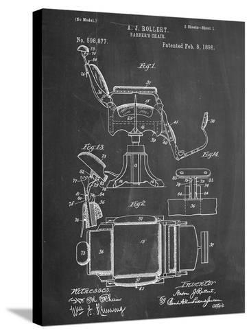 Barber's Chair Patent--Stretched Canvas Print