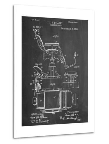 Barber's Chair Patent--Metal Print
