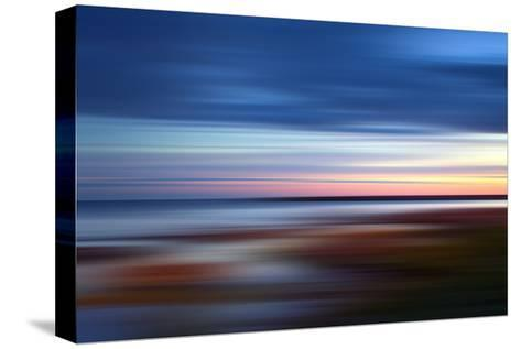 Blue on the Horizon-Andrew Michaels-Stretched Canvas Print