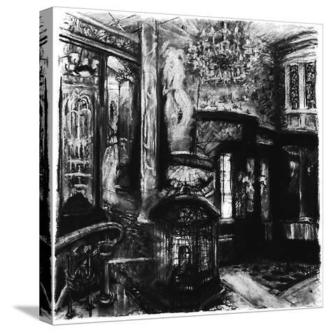 Savoy Shadows, Study for Savoy Interior, 2010-Lee Campbell-Stretched Canvas Print