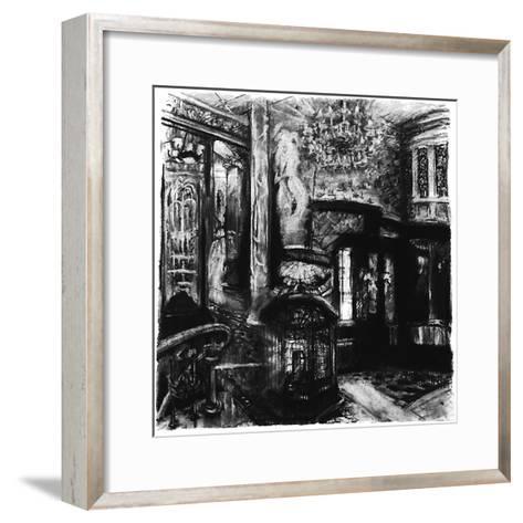 Savoy Shadows, Study for Savoy Interior, 2010-Lee Campbell-Framed Art Print