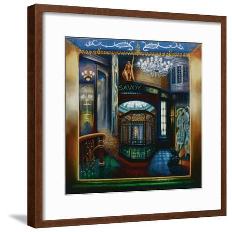Savoy Hotel, Savoy Interior, Kaspar the Cat, 2010-Lee Campbell-Framed Art Print