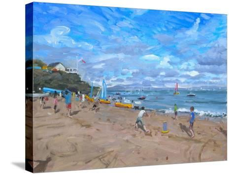 Beach Cricket, Abersoch, 2013-Andrew Macara-Stretched Canvas Print