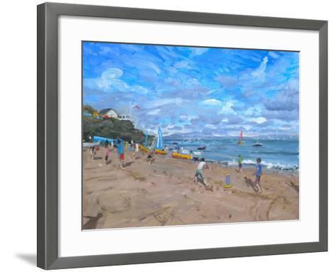 Beach Cricket, Abersoch, 2013-Andrew Macara-Framed Art Print