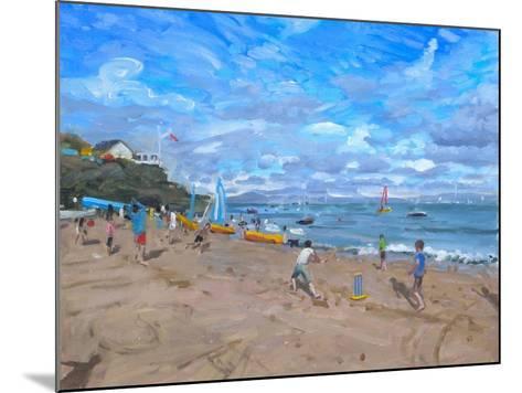 Beach Cricket, Abersoch, 2013-Andrew Macara-Mounted Giclee Print